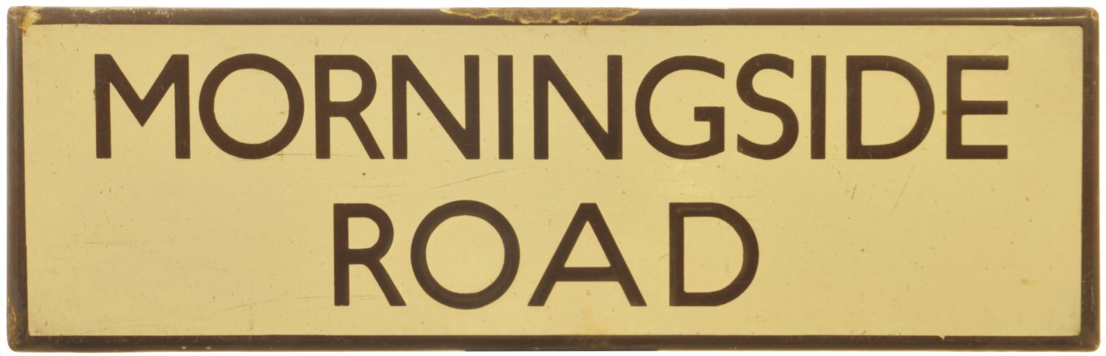 Lot 7 - Railway Station Direction Signs, Morningside Road, Lamp Tablet: An LNER lamp tablet, MORNINGSIDE