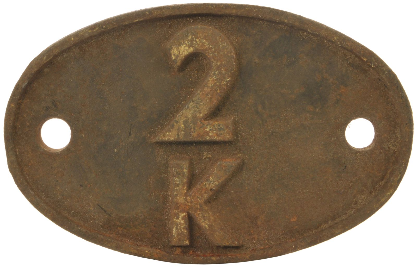 Lot 4 - Railway Locomotive Shedplates, 2K: A shedplate 2K Bushbury (September 1963 to April 1965). This ex