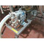 Waukesha positive displacement pump mod. no. 30 U1 ser. no. 100000-2714755 stainless, 2 in x2 in,