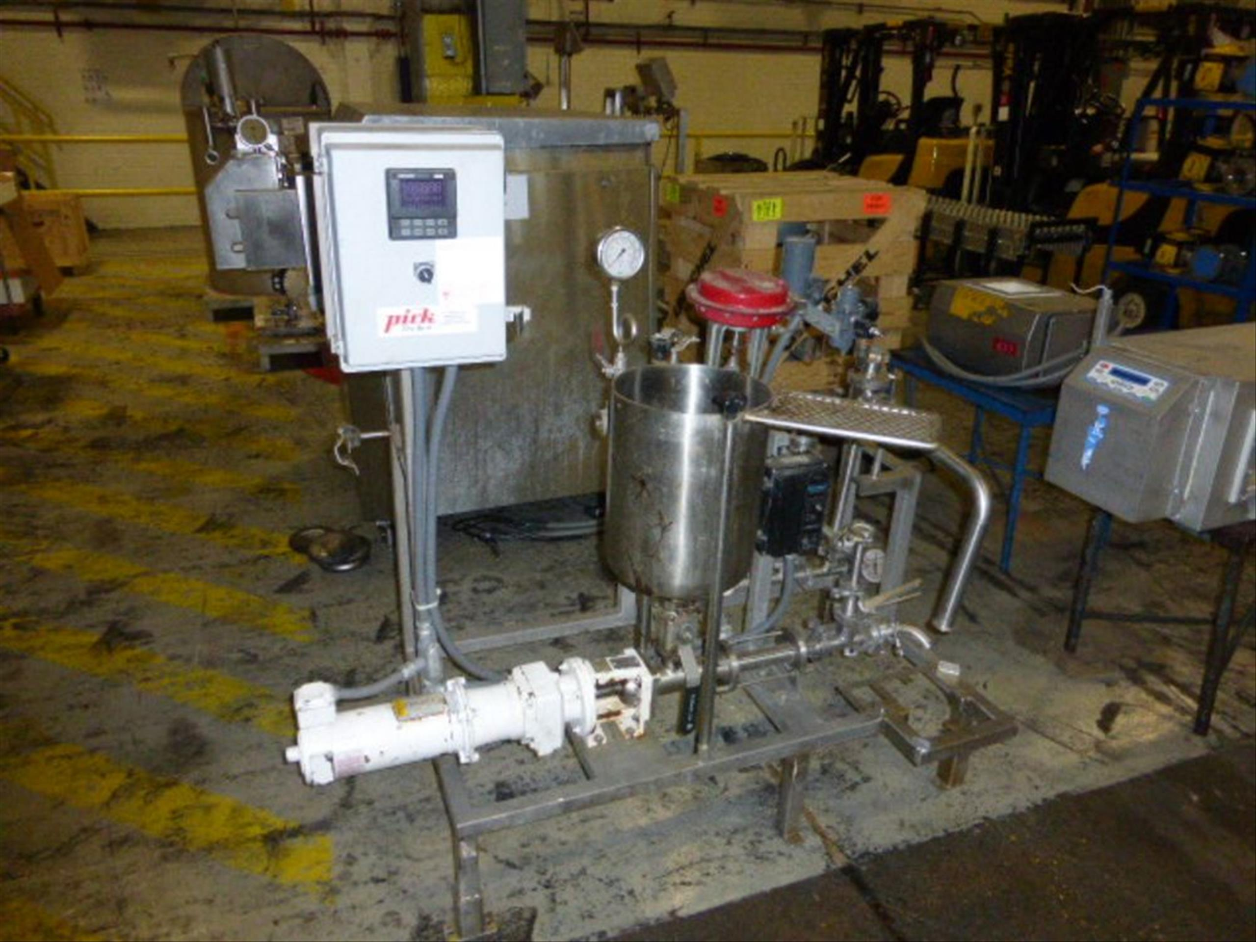 Pick Heating Process Unit with Moyno EB2A SSE3 #7427602 with 0.5 HP Stainless Steel Tank, 11.5 in - Image 3 of 3