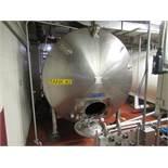APV Crepaco Dairy tank # 1 mod. no. CRN-0H3509.5 ser. no. K-1329 horizontal, jacketed tank, 2,500 to