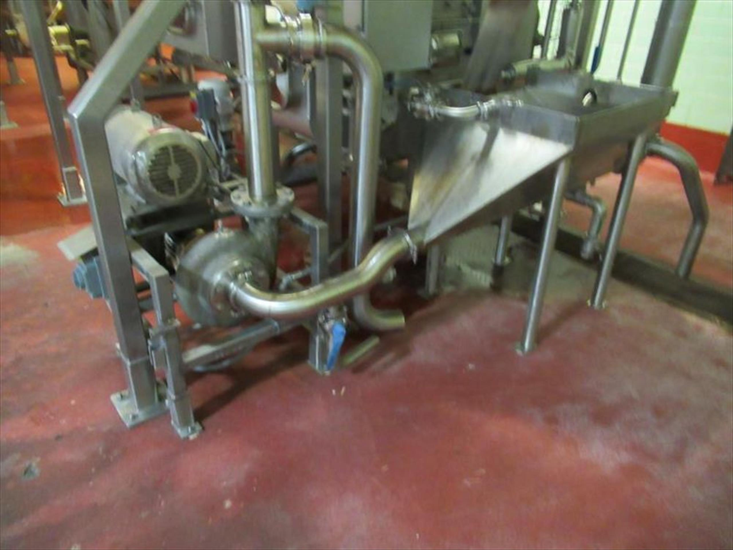 Cornell 4 in hydro-food pump mod. no. 4NMP-F5K ser. no. 106607 7.5hp with stainless vortex hopper [