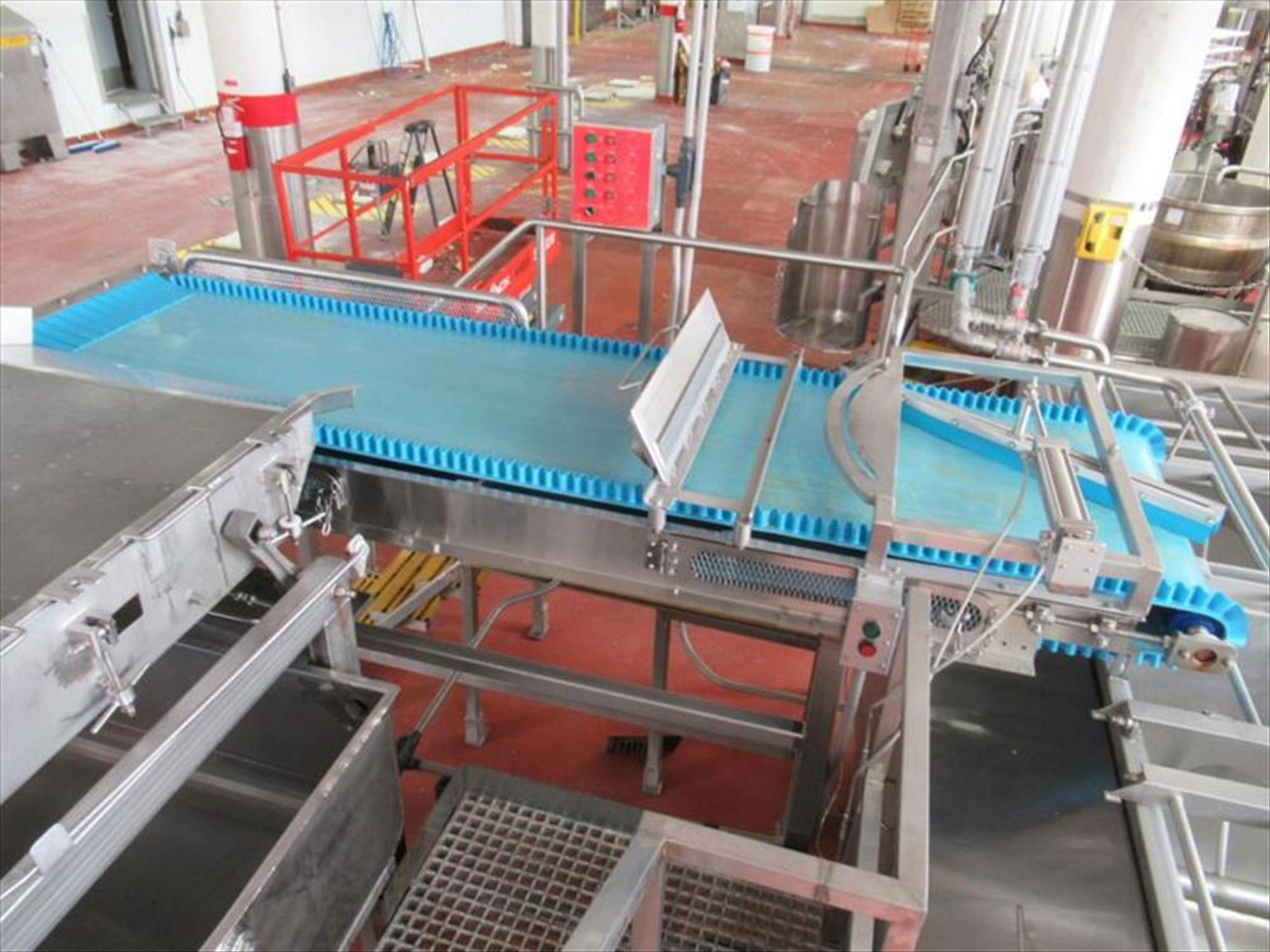 Rubber belt conveyor with magnet approx 30 in w x 120 in l inspection belt conveyor with PVC
