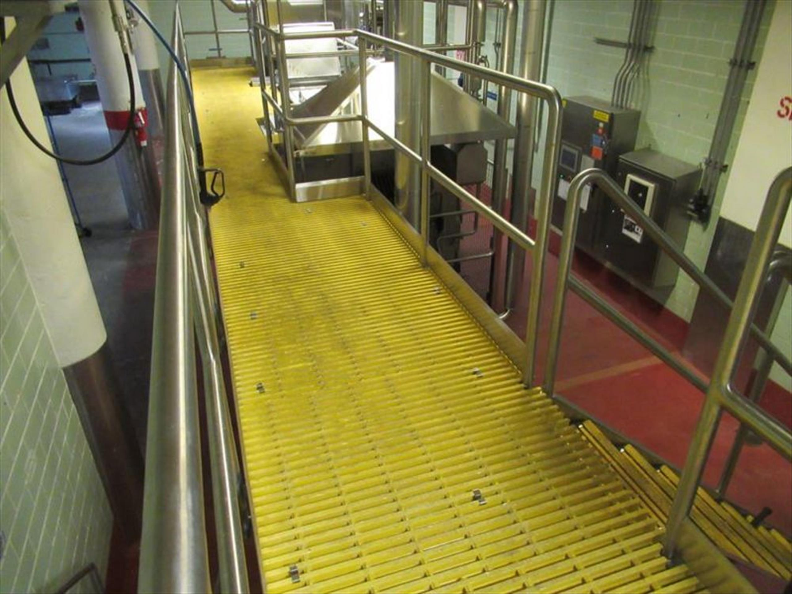 Blancher inspection platform with (2) 10 steps stairways, Hd stainless framing and safety rails, - Image 3 of 4