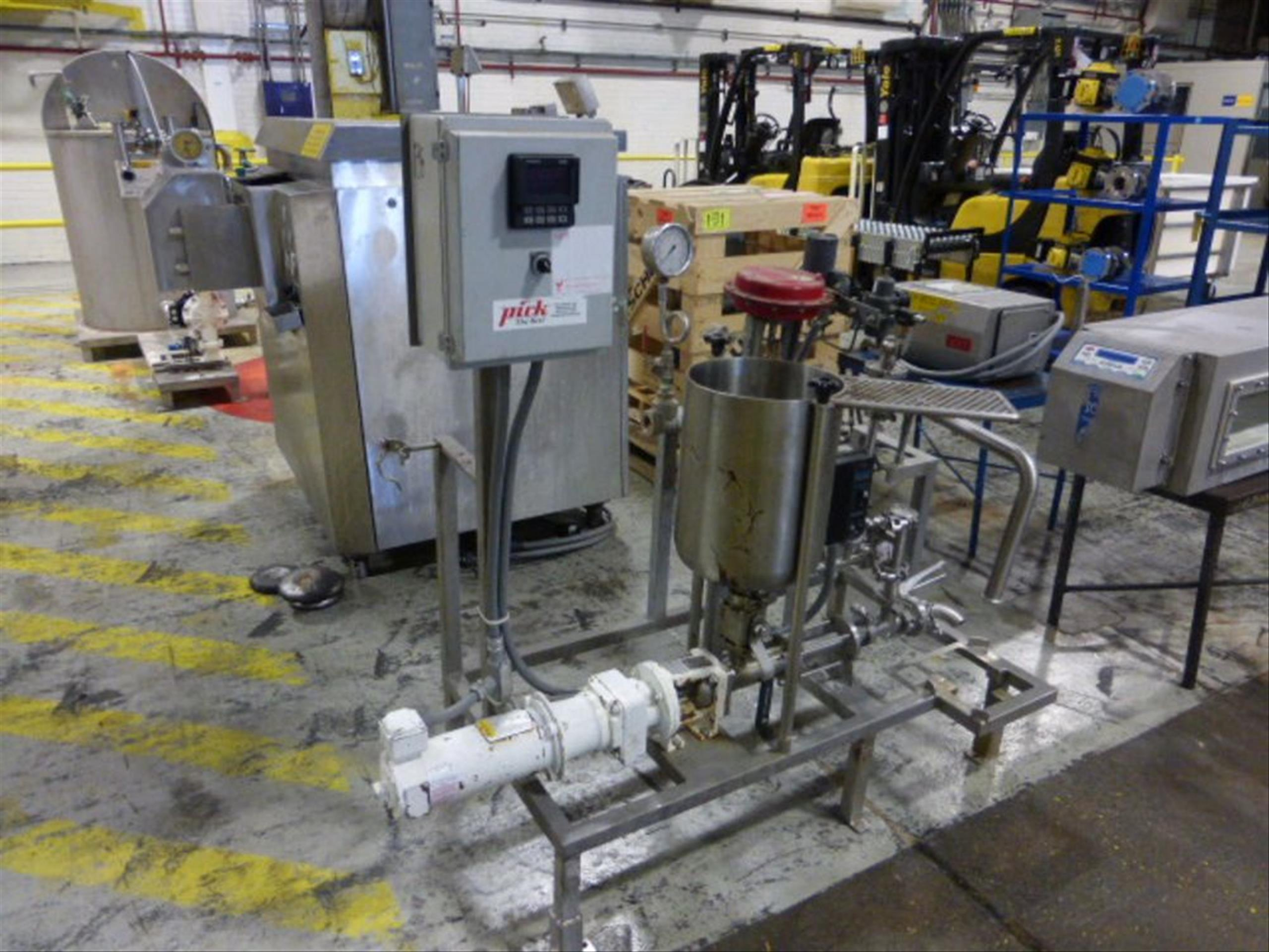 Pick Heating Process Unit with Moyno EB2A SSE3 #7427602 with 0.5 HP Stainless Steel Tank, 11.5 in - Image 2 of 3