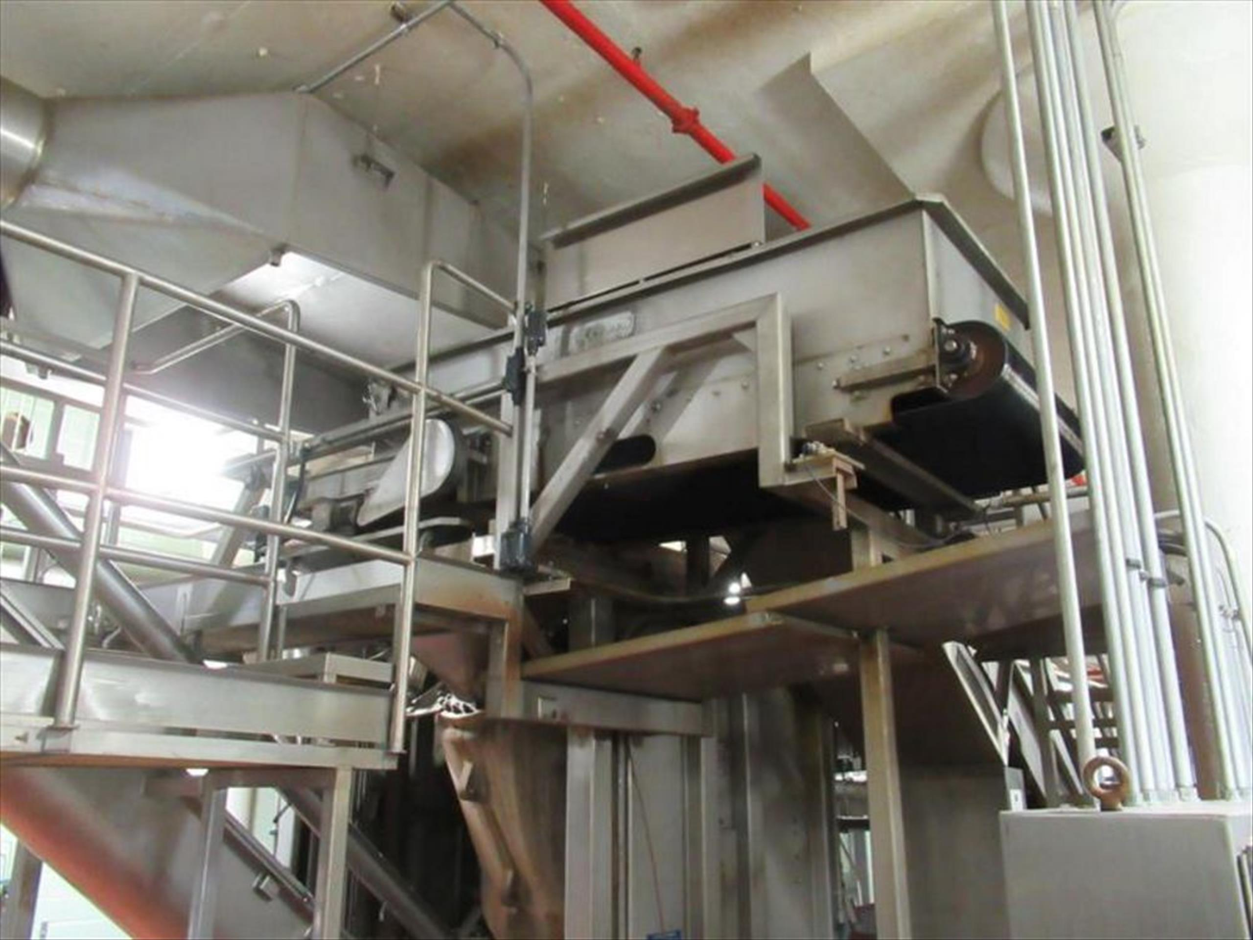 Starr Weigh table conveyor 3 ft w x 6 ft l x 2 ft h, with rubber v-belt, Flintec -SB145KLB-CUC3 load
