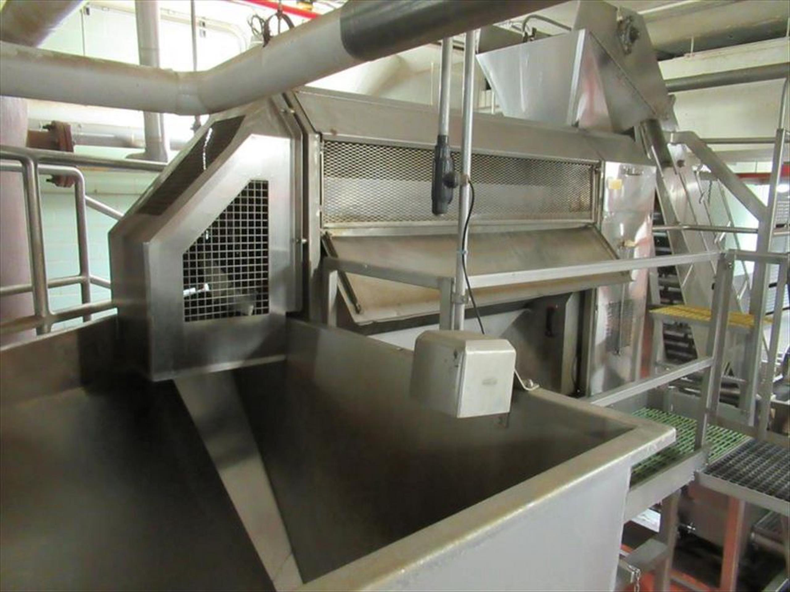 Brush washer with screw continuous washing / scrubbing machine, 6 brush rollers, spray bar, approx - Image 2 of 2