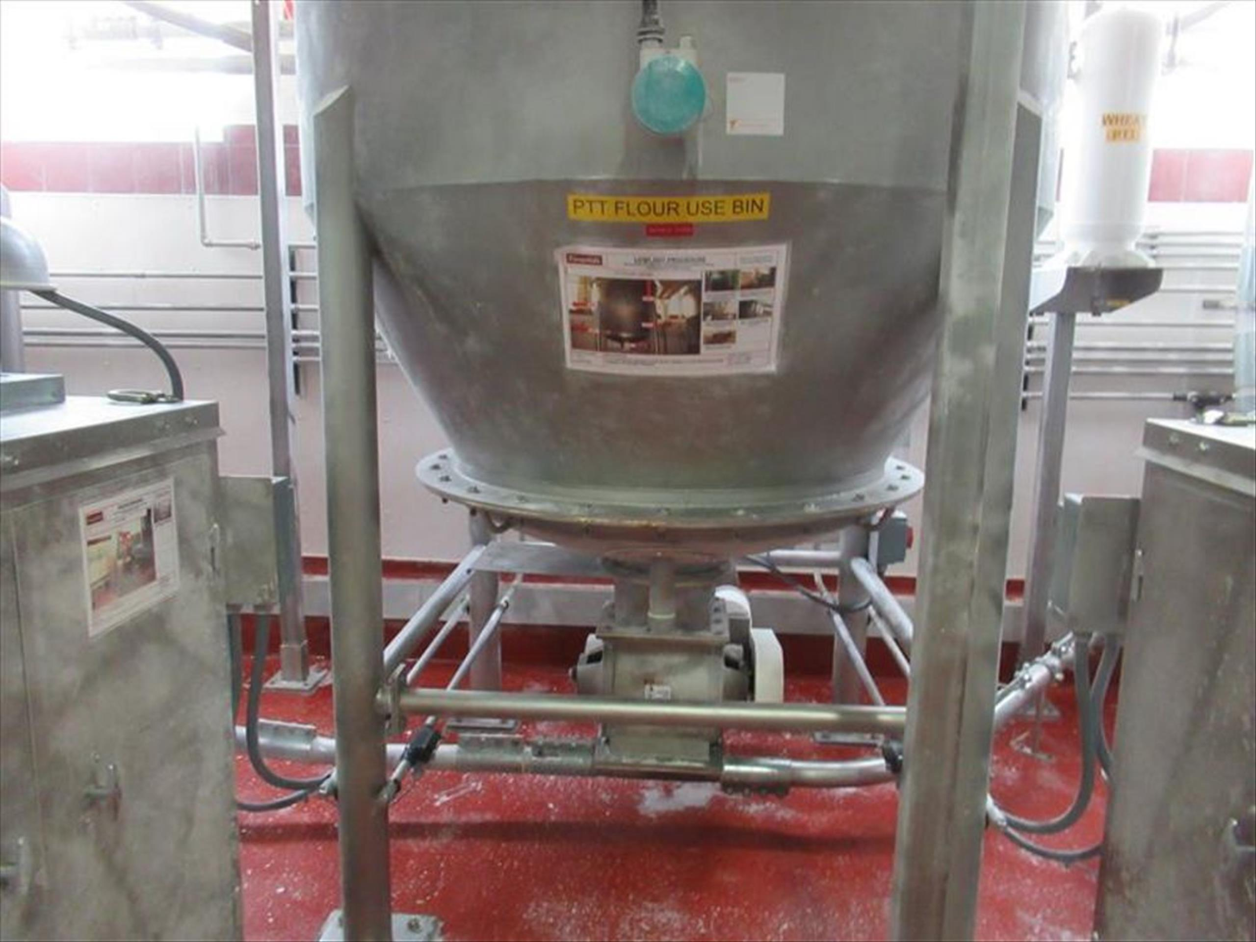 Schick pit flour receiver approx 6 ft dia x 10 ft h straight x 30 in cone bottom, cone top, with - Image 2 of 2