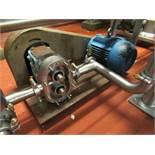 Waukesha positive displacement pump mod. no. 30 ser. no. 2965098 2hp/1740 drive motor, approx