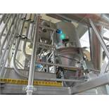 Shick Overhead hopper receiver 30 in dia x 36 in straight x 15 in cone, integrated dust collector