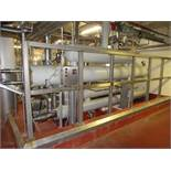 Ammonia Heat Exchanger (4) associated with dairy storage tanks including Chil-Con and