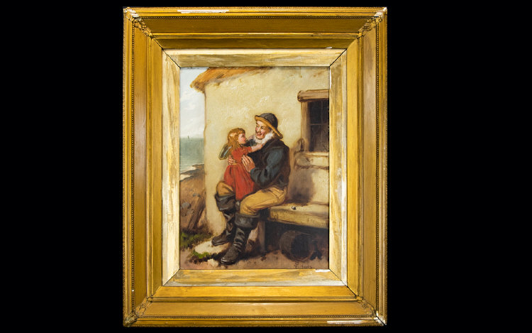 Lot 956 - William F Hardy Oil Canvas 'Grandfathers
