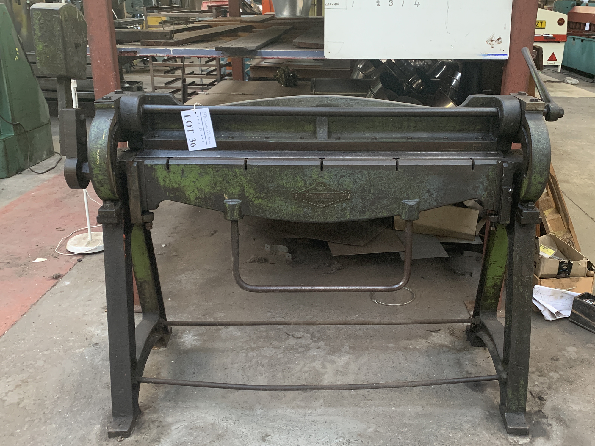 FJ Edwards High Lift Manual Folding Machine. 48'' Capacity. - Image 2 of 3