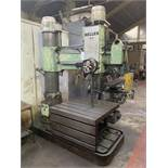 Heller Radial Arm Drill. 48'' Radius of Arm. Box Table Size 1000mm x 1000mm x 550mm.