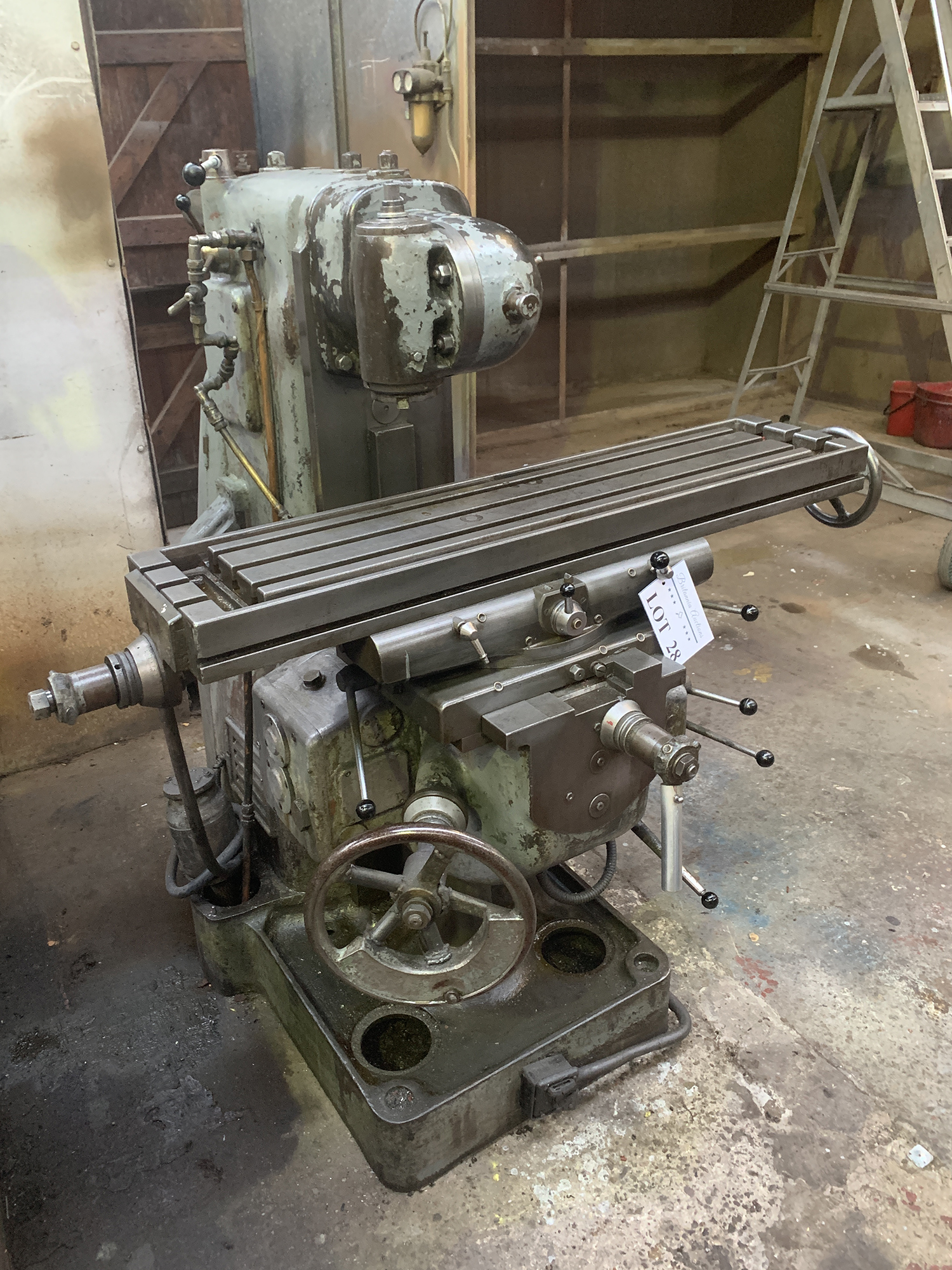 Dufour Universal Milling Machine with Double Swivel Head. Table Size 1100 x 250mm. - Image 2 of 4