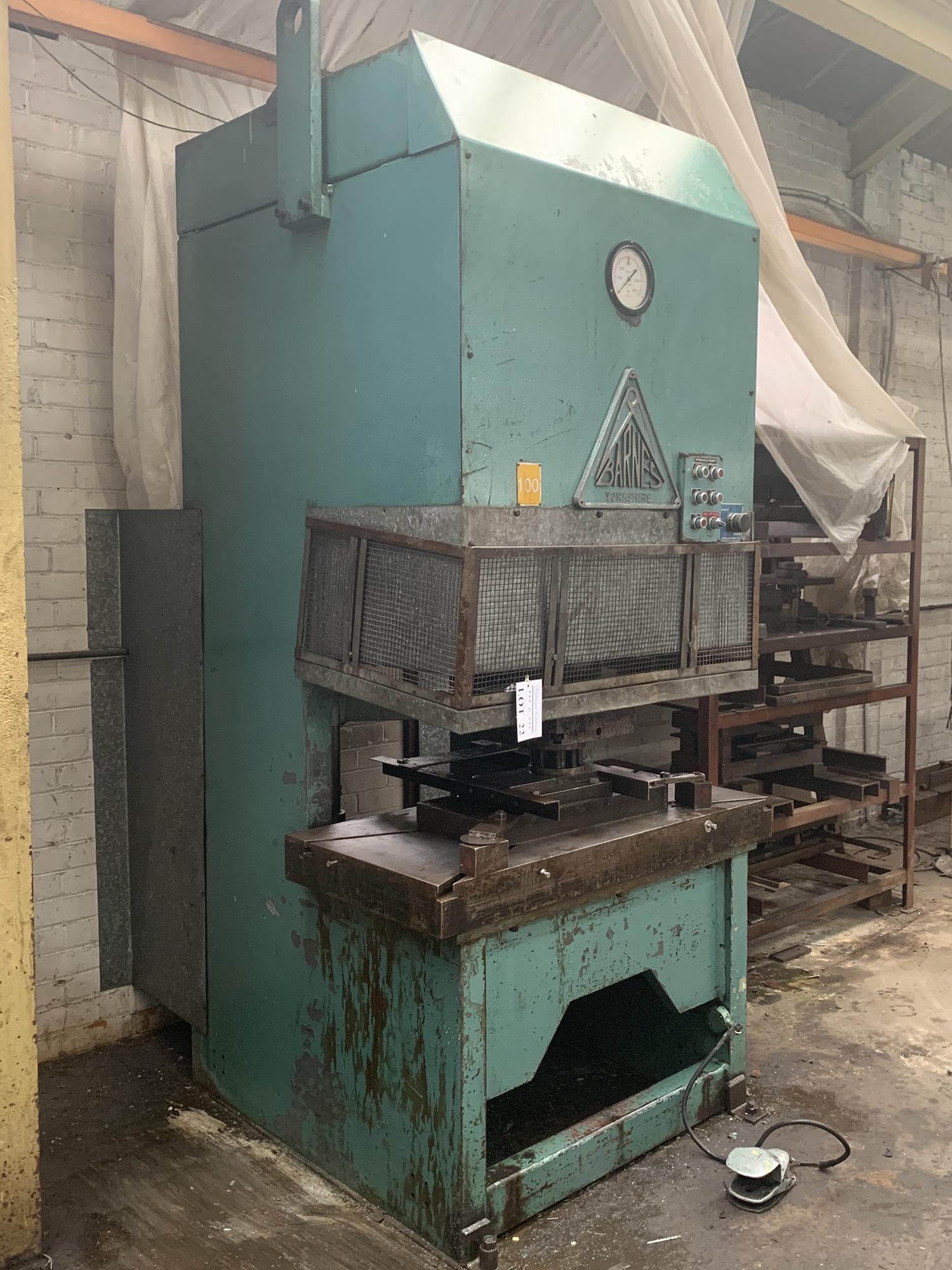 Barnes Hydraulic Press. 100 Ton Capacity. 24'' x 48'' Platen Size. - Image 2 of 5