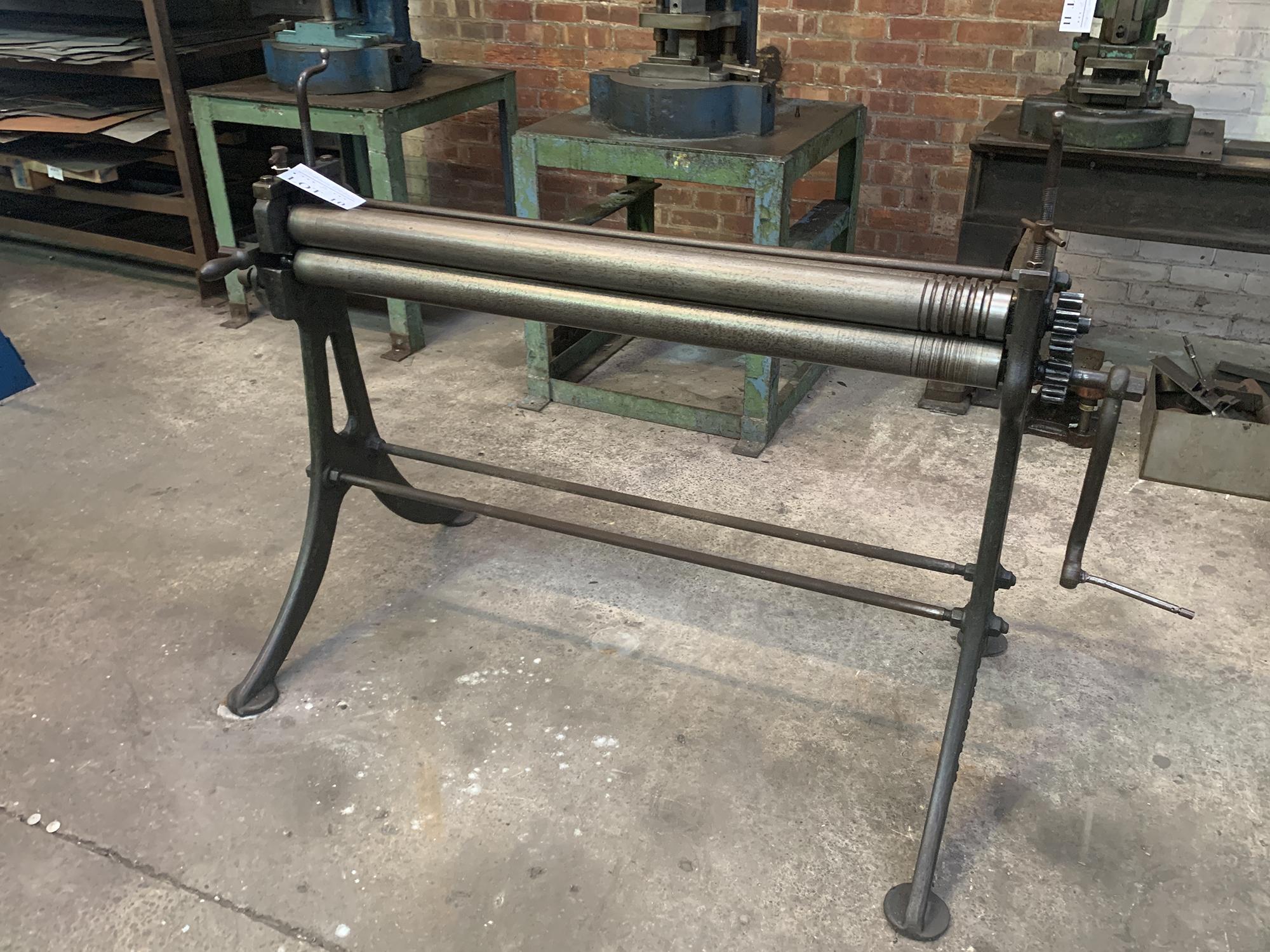 FJ Edwards Initial Pinch Manual Bending Rolls. 48'' Capacity.