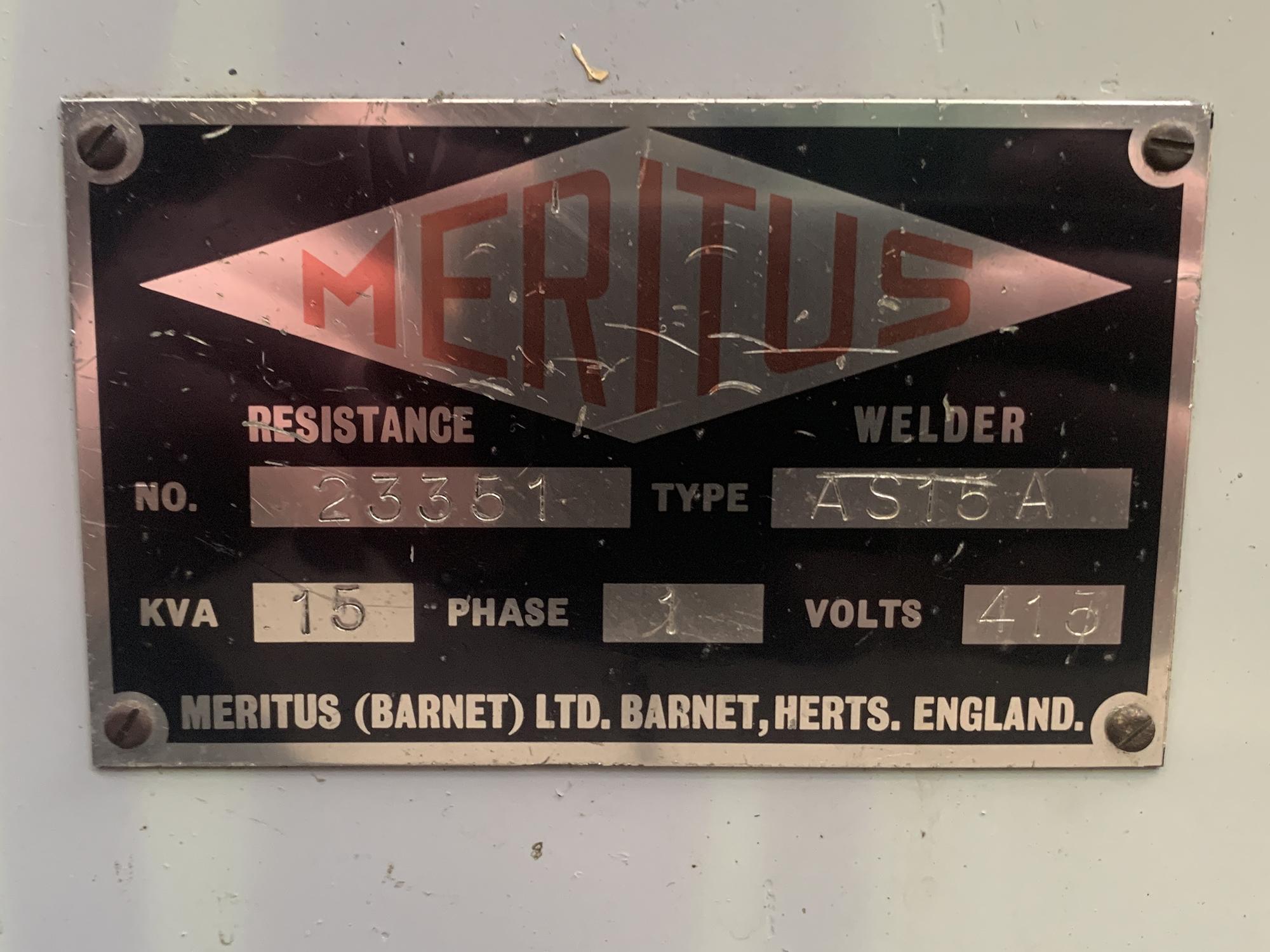 Meritus Pedestal Spot Welder. Throat Depth 22''. - Image 4 of 5