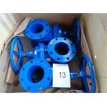 3 x Aqua Flow DN150 PN16 res/sg gate valves