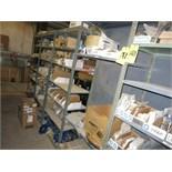 (Lot) Assorted parts (including Atlas Copco, Cummins, Komatsu, Volvo), nozzles, caps, hoses, pumps,
