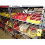 """(Lot) Shackles 1-1/4"""" and 1-1/2"""", plow nuts 1-3/8"""