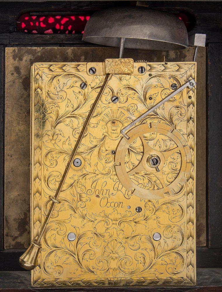 Lot 896 - John Knibb, Oxon, a late-17th century ebonised bracket clock: of Phase IV design,