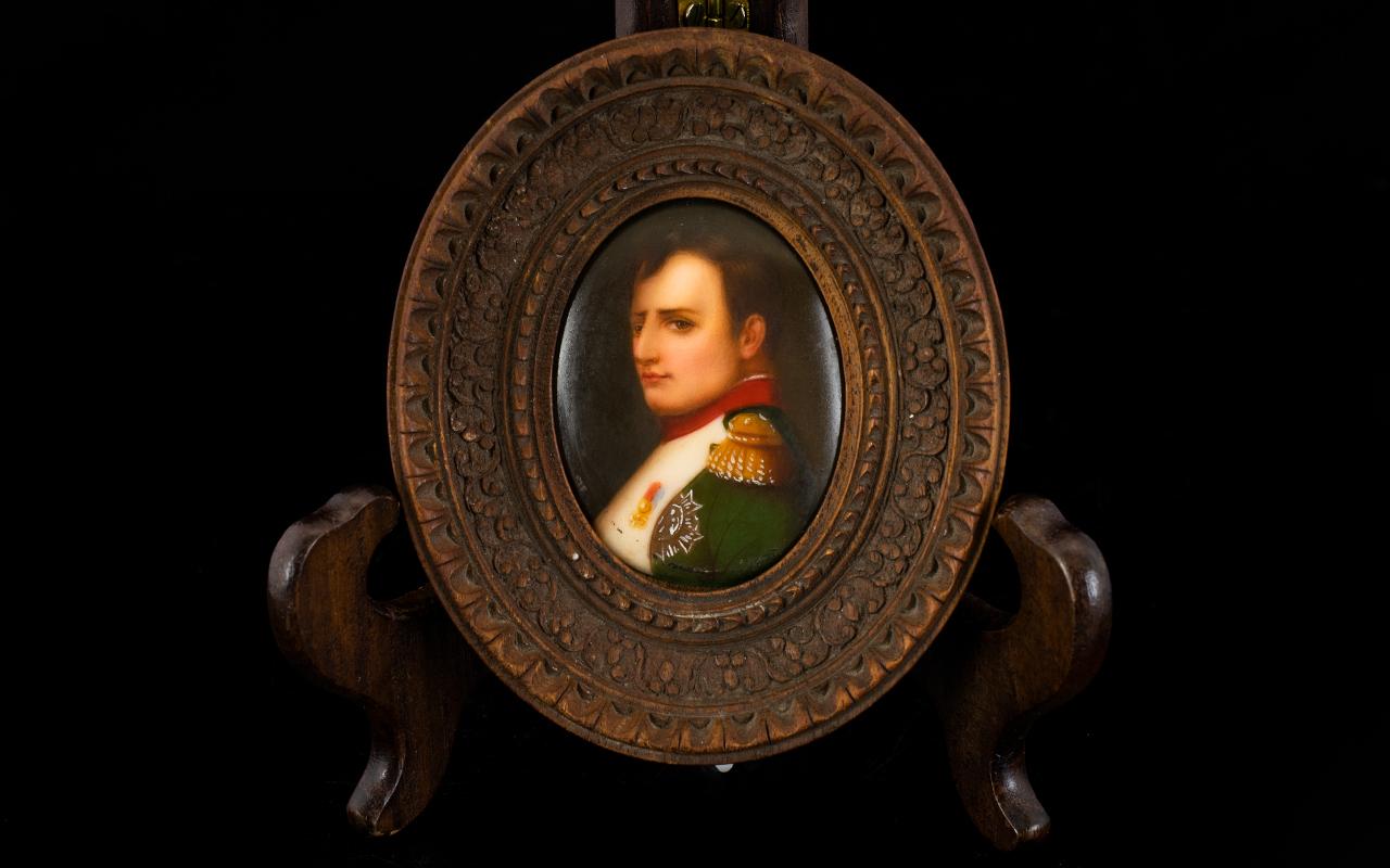 Lot 211 - Antique Portrait Miniature On Porcelain