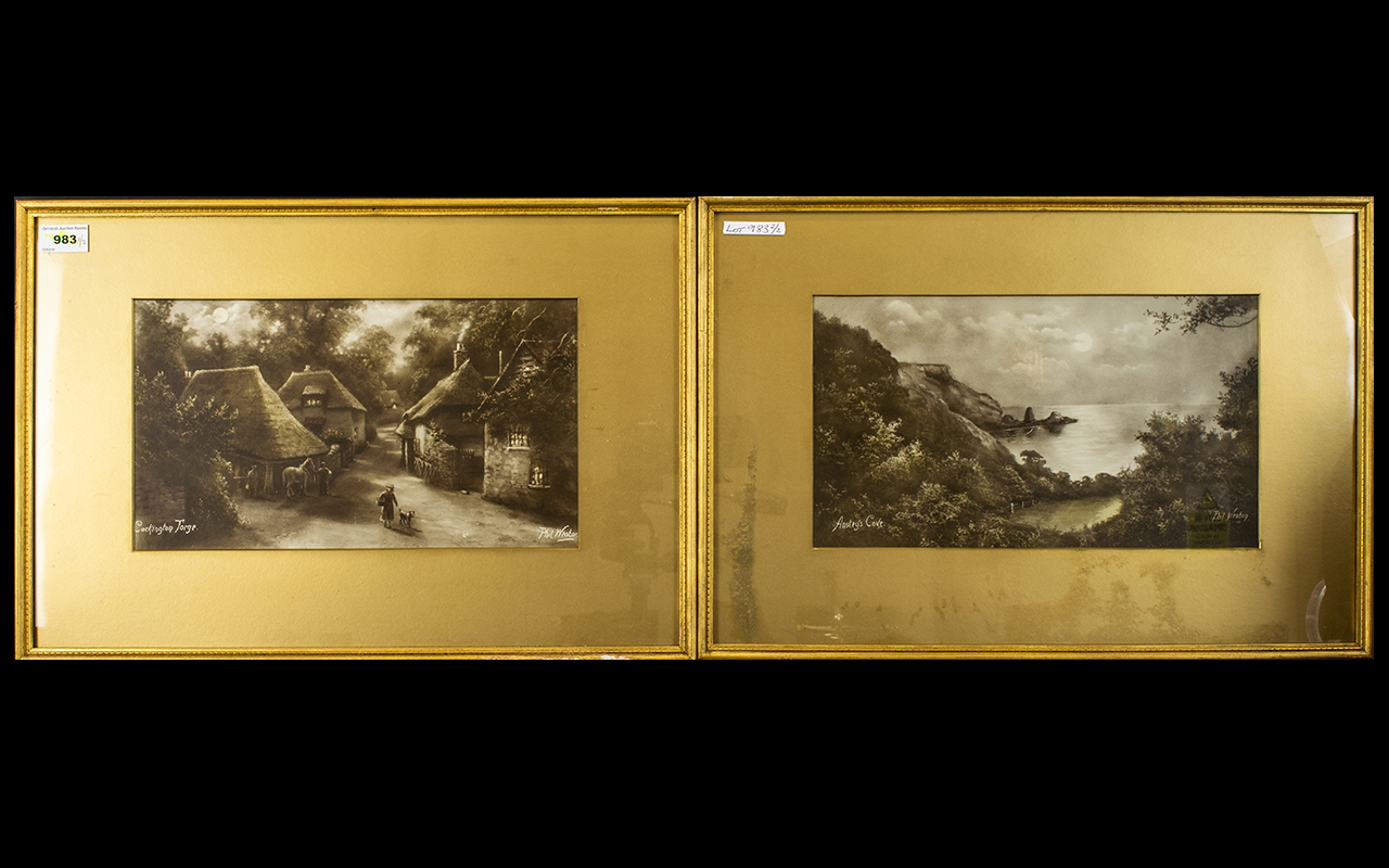 Lot 983 - Two Early 20th Century Sepia Prints Each