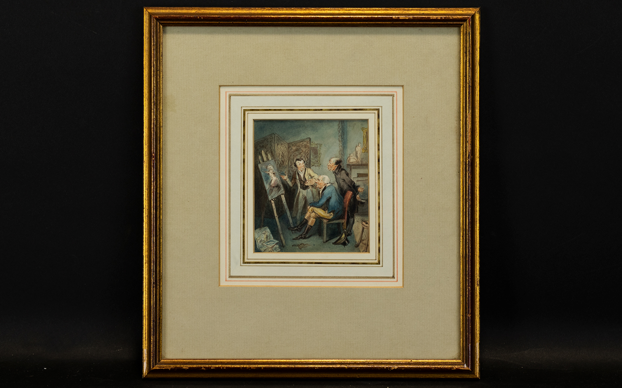 Lot 925 - An Original Watercolour Unsigned, highly