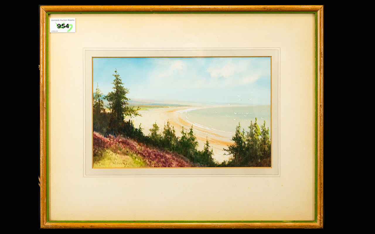 Lot 954 - G Trevor Framed Watercolour Depicting th