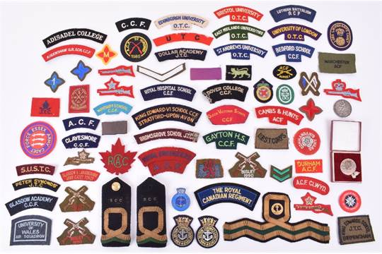 Army Cadet Forces Badges and Insignia, Six cards of mixed cadet