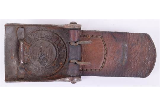 WW2 German Army Other Ranks Combat Belt Buckle, fine example
