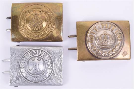 WW2 German Army Other Ranks Belt Buckle, aluminium example