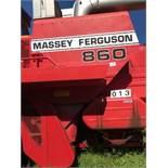 1985 Massy 860 Combine, V8 Perkins engine, Hydro