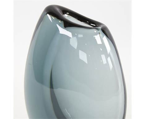 """VICKE LINDSTRAND FOR KOSTA, SWEDEN, a """"Dark Magic"""" vase in Twilight Blue, marked to base LH 1606, height 17cm.Good condition,"""