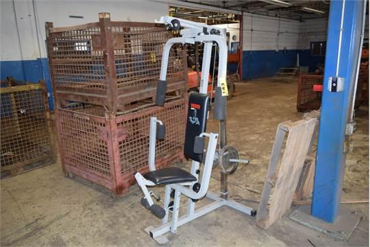 Lot Assorted Gym Equipment C O Weider 8920 Pec Deck