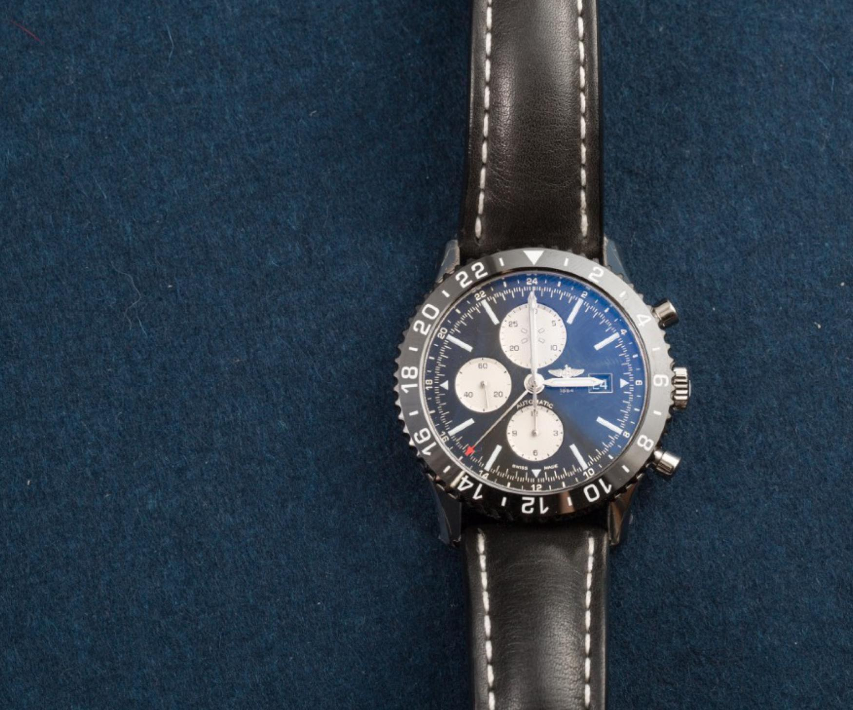 Lot 7 - BREITLING, New Old Stock, Chronoliner Chronograph with GMT