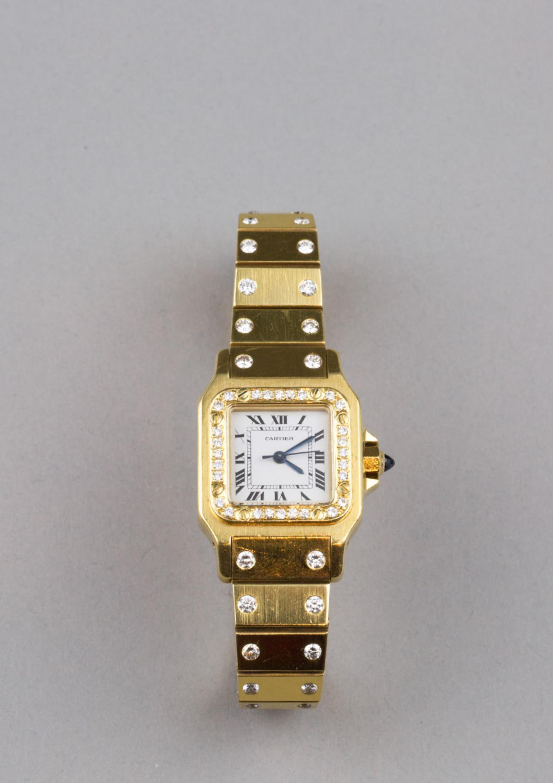 Lot 36 - Cartier SantosLady's bracelet Watch
