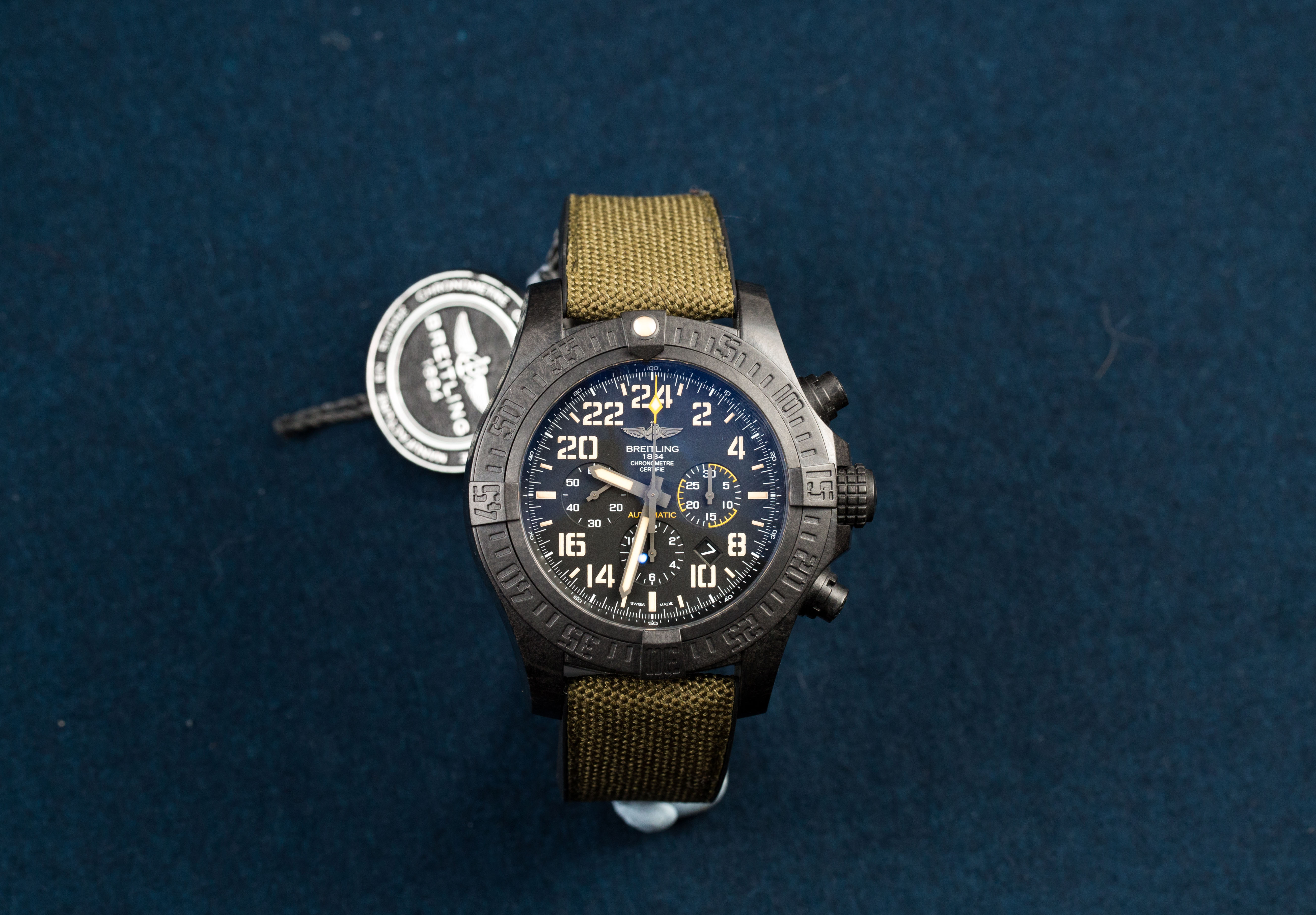 Lot 1 - BREITLING, New Old Stock, Avenger Chronograph Military Limited Edition