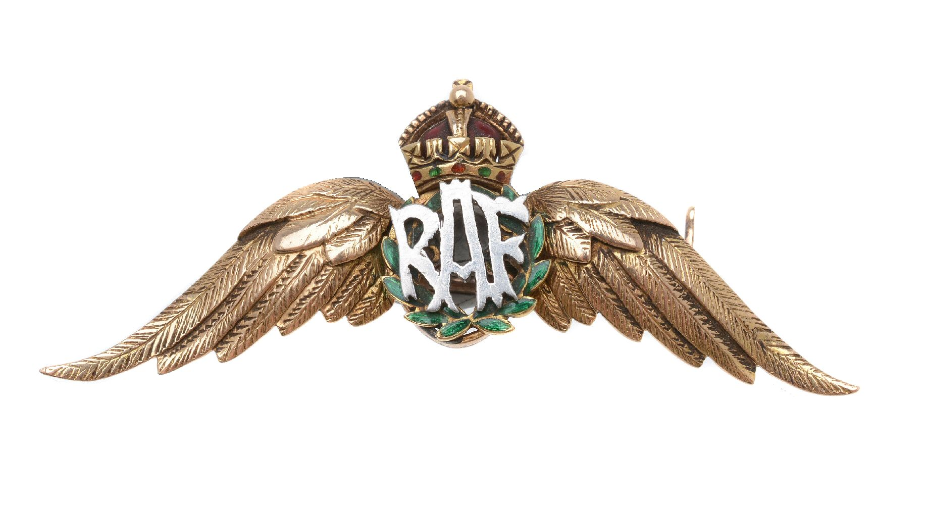 Lot 35 - A 1930s RAF sweetheart brooch