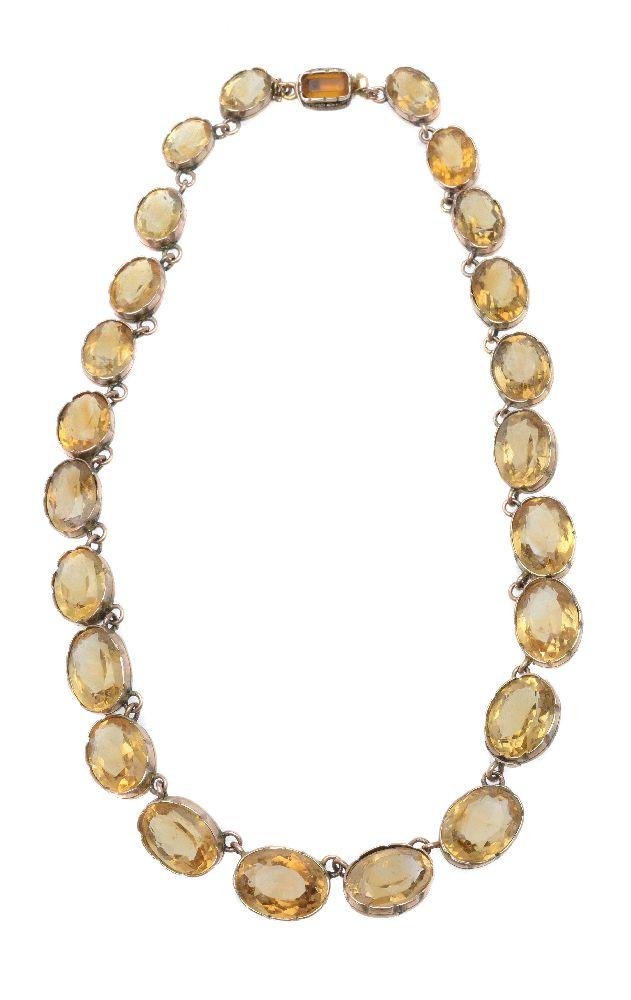 Lot 53 - A citrine necklace