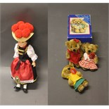 Lot 75 - A box containing 3 Schuco collector bears (from 2003/2004 series) & a German hard plastic Black