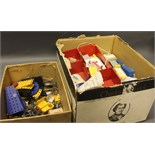 Lot 141 - A box of Meccano together with a box of lego