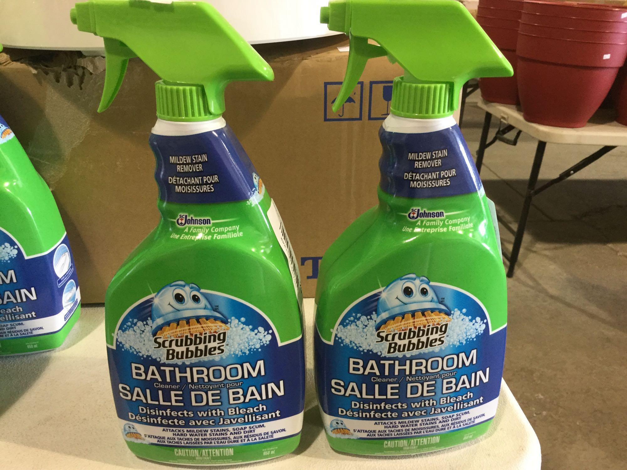 Lot 30 - Lot of 2 x 950 mL Scrubbing Bubbles Bathroom Cleaner