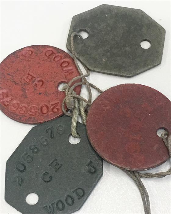 Large Selection Of WW1 Medals ,dog Tags Etc Includes Pair