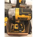 DEWALT XR DCF887, 1/4 DRIVE WITH 20V BATTERY AND CHARGER AND DEWALT WORK LIGHT DCLO5O AND 20V