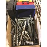 (LOT) ASSORTED DRILL BITS