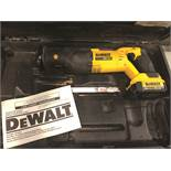 DEWALT RECIPROCATING SAW DCS380 WITH 20 VOLT BATTERY