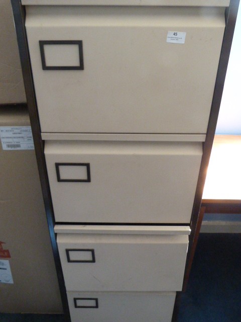 Lot 45 - *Four Drawer Filing Cabinet