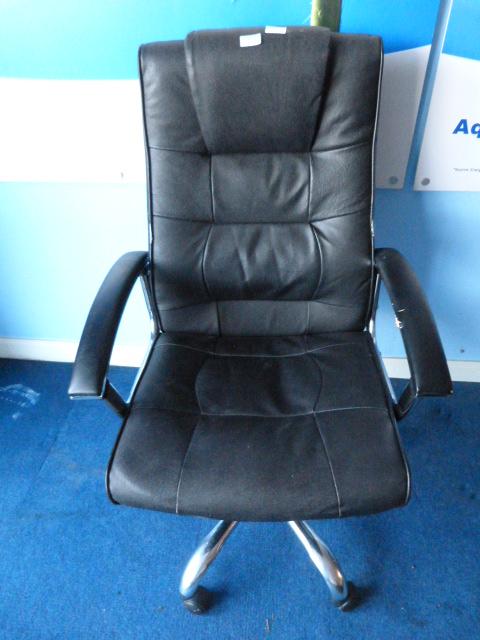 Lot 3 - *Chrome Framed Leatherette Upholstered Office Chai